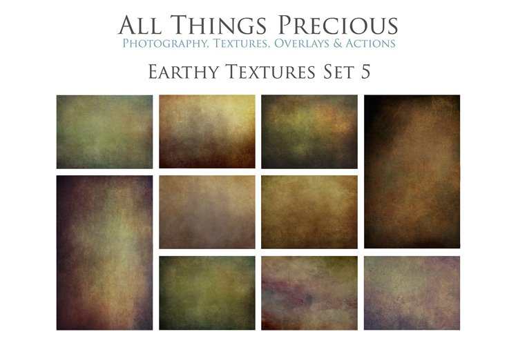 10 Fine Art Earthy Textures SET 5 example image 1