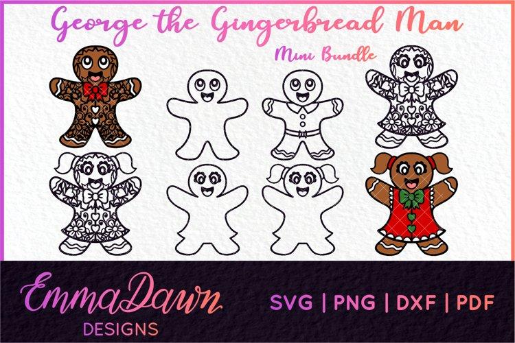 GEORGE THE GINGERBREAD MAN SVG MINI BUNDLE 8 DESIGNS example image 1