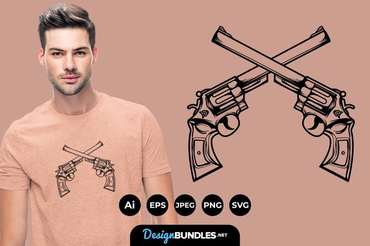 Classic Gun for T-Shirt Design
