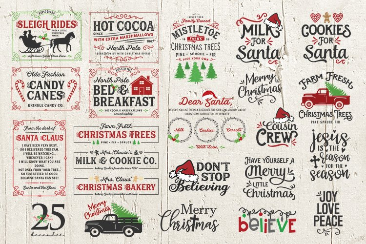 32 BEST Christmas bundle svg Sign Shirt Merry Christmas example image 1