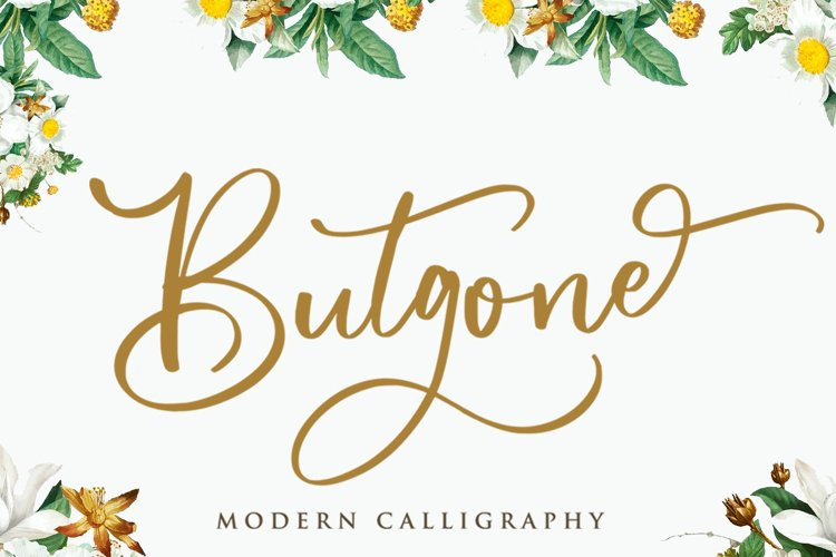 Butgone - Modern Calligraphy Font example image 1