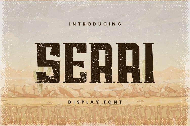 Web Font SERRI Font example image 1