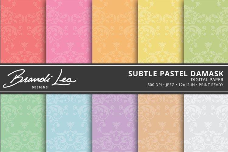 Subtle Pastel Damask Digital Paper Pack