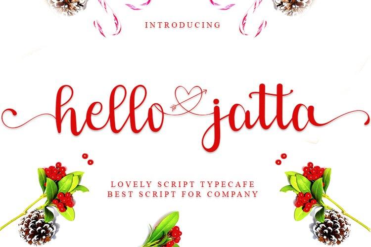 Hello Jatta - Web Font example image 1
