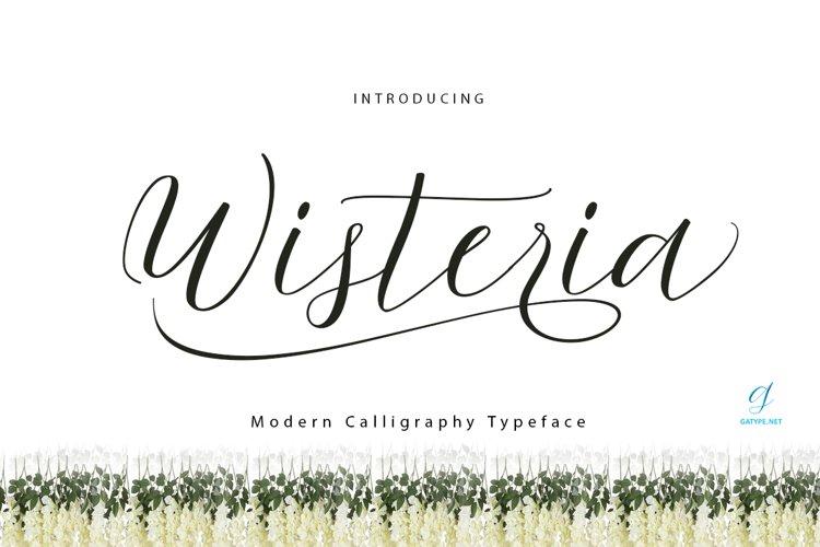 Wisteria Script