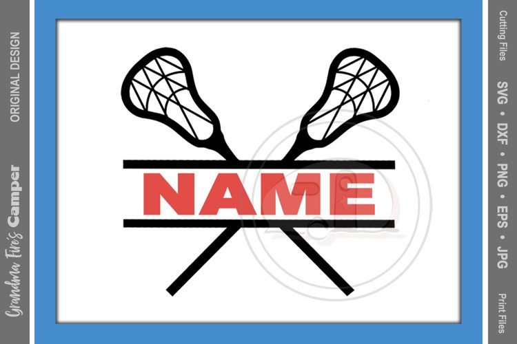 Lacrosse SVG, Lacrosse Personalize SVG, Lacrosse Split Name example image 1
