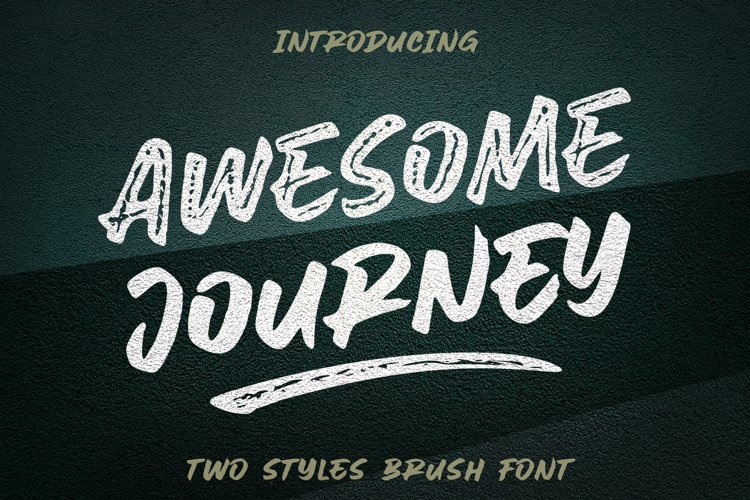 Awesome Journey Brush Font example image 1