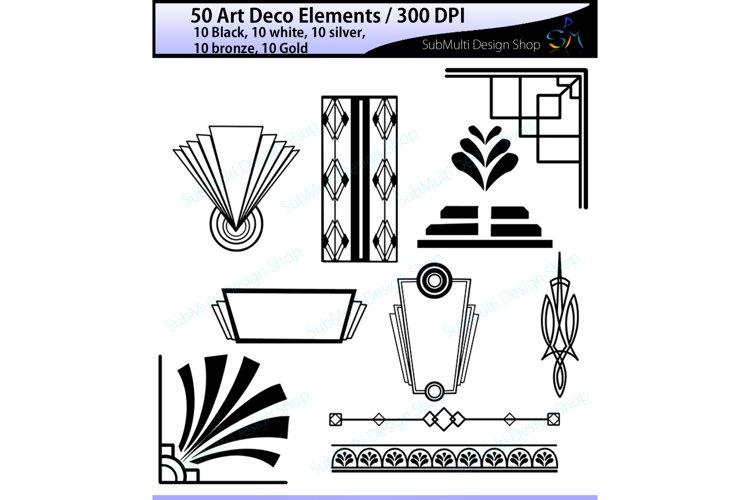 Art deco / High Quality / art deco elements / art deco element clipart / art deco element silhouette / art deco printable vectors / colored