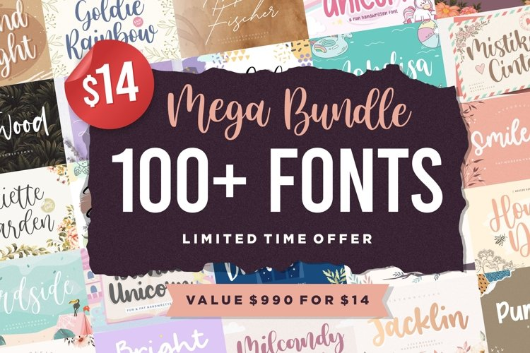 Mega Bundle 100 Plus Font | Limited Time Offer example image 1