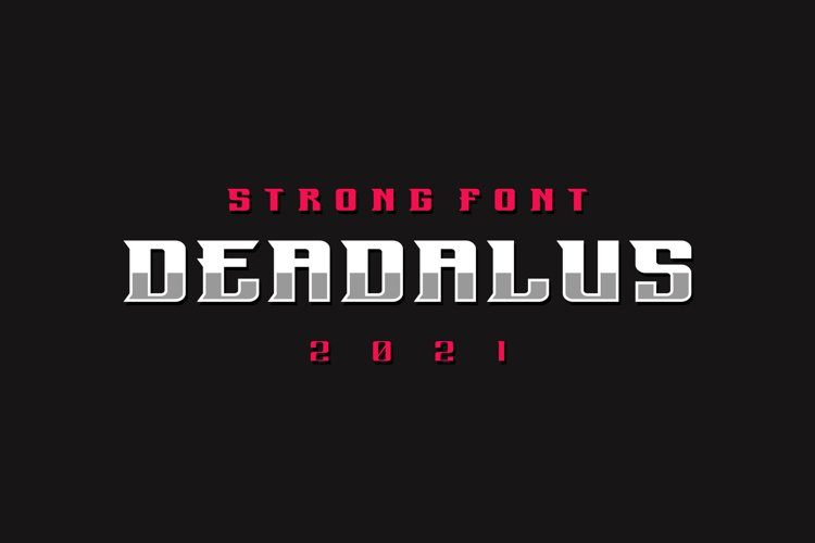 Deadalus Font example image 1