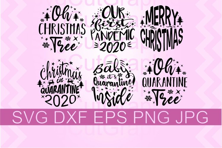 Covid Christmas Ornaments SVG PNG DXF example image 1