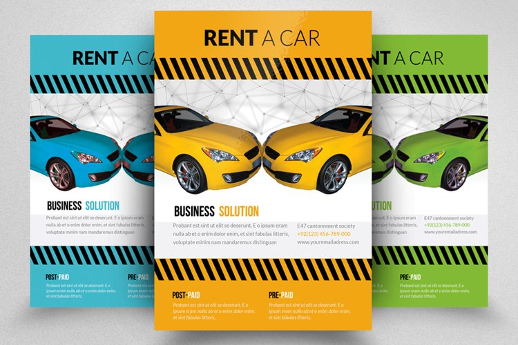 Rent A Car Business Flyer Template example image 1