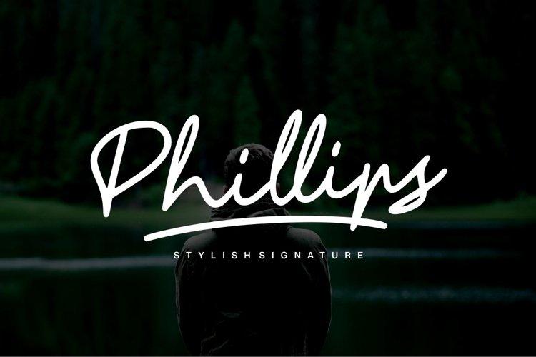 Phillips - Stylish Font example image 1