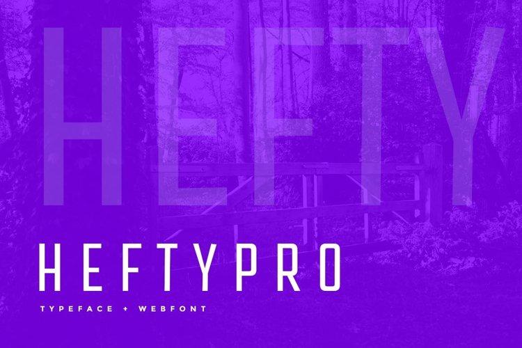 Hefty Pro Display Typeface WebFont example