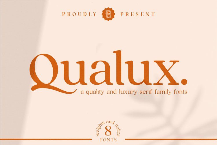 Qualux - Serif Family Fonts example image 1