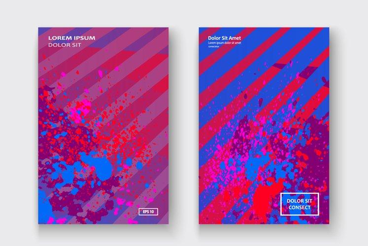 Creative cover design paint splatter vector illustration