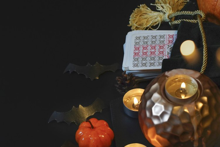 Halloween concept, black magic or fortune telling example image 1