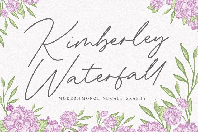 Kimberley Waterfall Modern Monoline Calligraphy Font example image 1