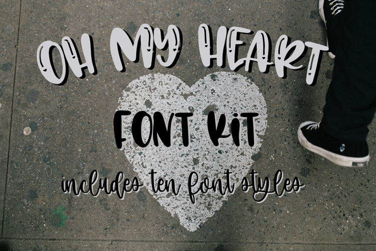 Oh My Heart Font Kit 10 Fonts