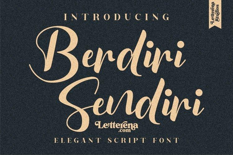Berdiri Sendiri - Elegant Script Font example image 1