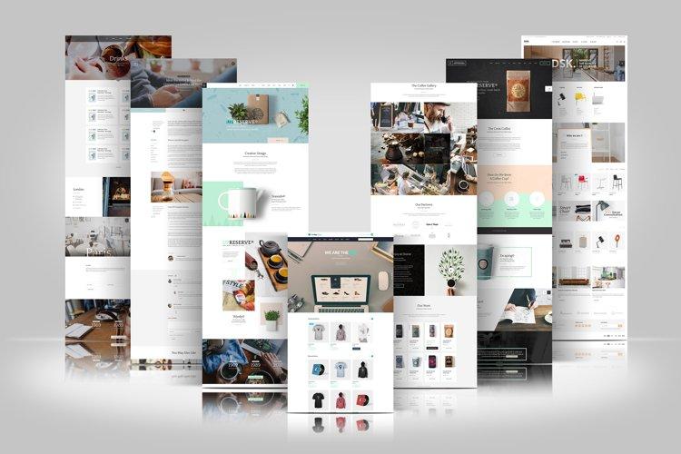 Web Themes Presentation Mockup