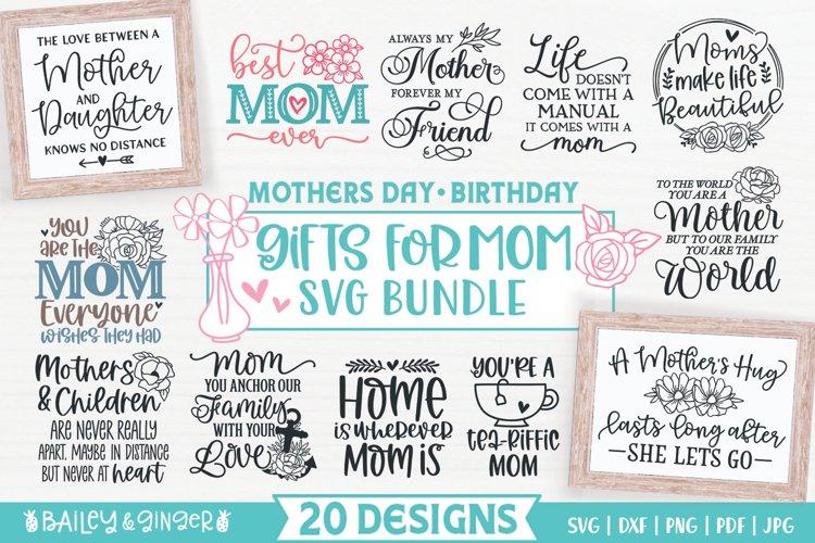 Gift for Mom SVG Files | Mom Appreciation Gift Making Bundle