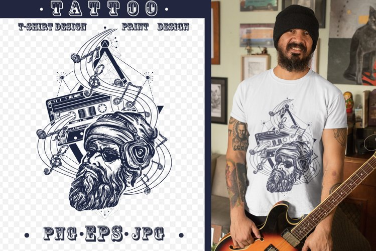 Music tattoo example image 1