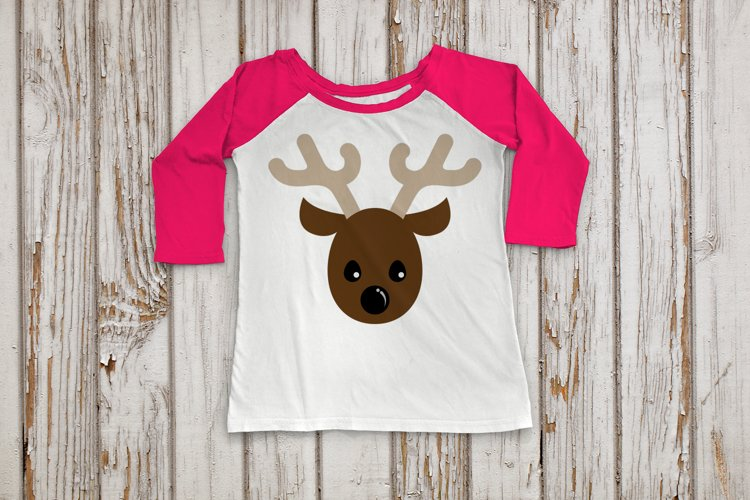 Reindeer Face SVG File Cutting Template example image 1