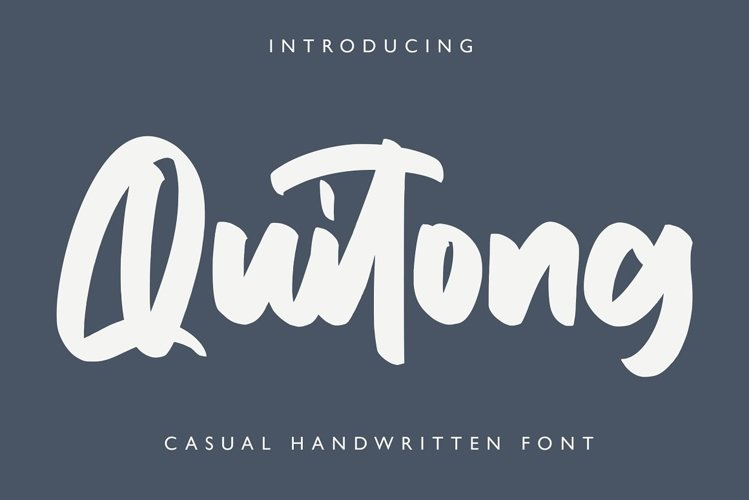Quitong - Handwritten Font example image 1