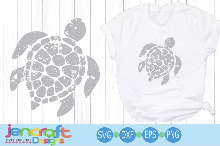 Distressed Sea Turtle svg Grunge SVG