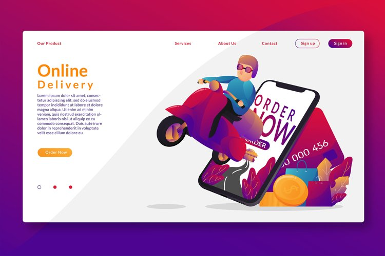 Online Delivery - Landing Page example image 1