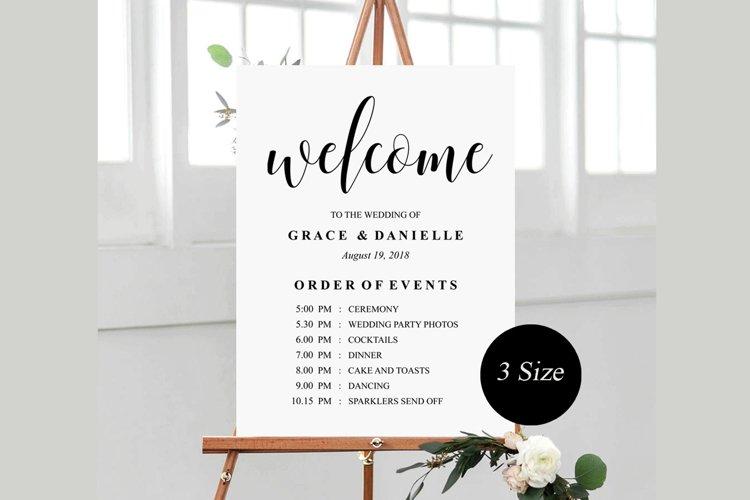 wedding welcome sign, wedding welcome Template