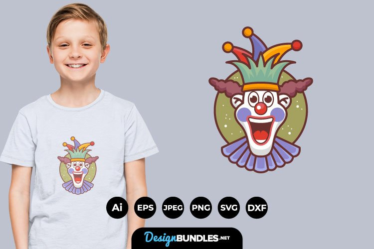 Happy Clown Face for T-Shirt Design example image 1