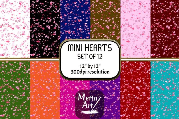 "12 Designs - 12"" x 12"" - Mini Hearts example image 1"