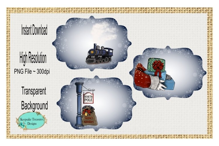 Train Express, Add Your Own Words, Ornament Template
