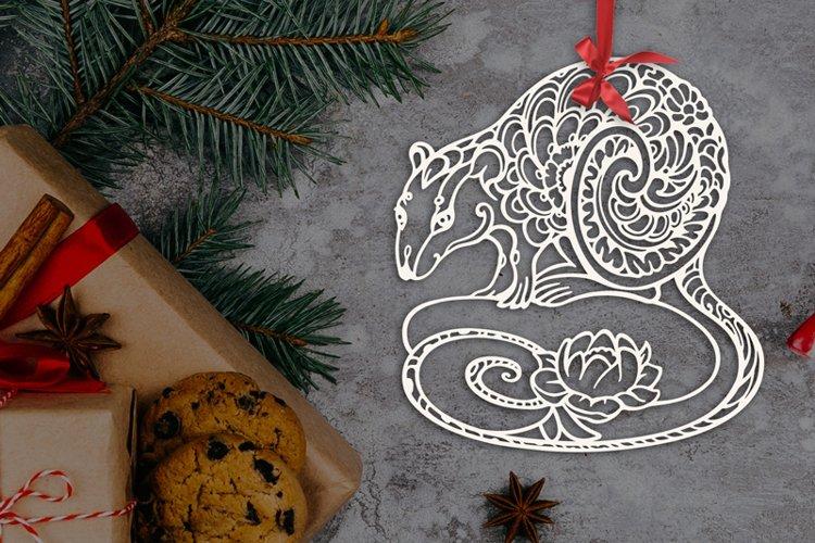 Rat SVG, Symbol of the year 2020, decorative animal clip art example image 1