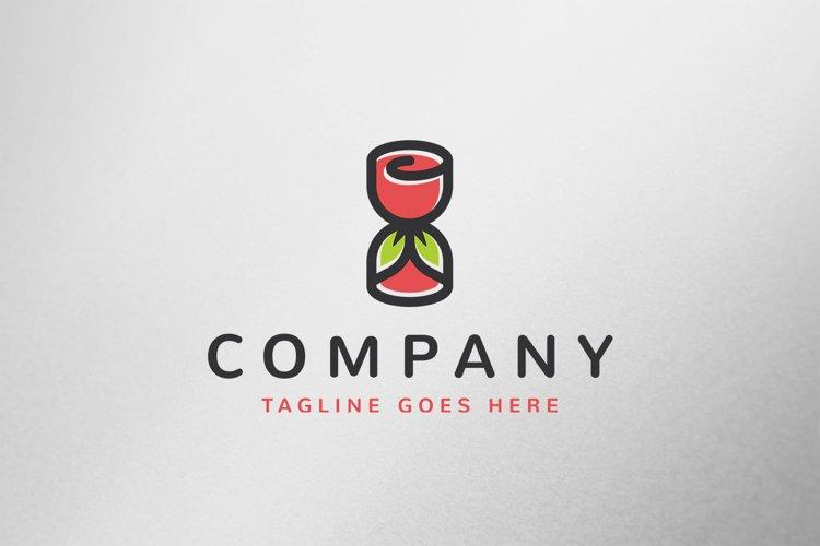 Rose Hourglass Logo Template