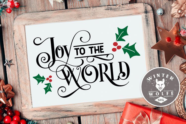 Joy to the world SVG EPS DXF PNG example image 1