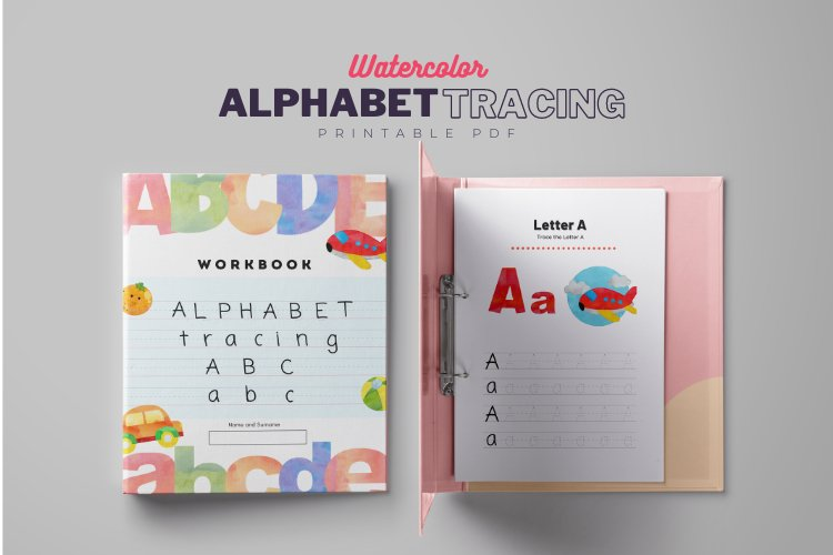 Alphabet Tracing Letters Printable Pages, Alphabet Activity example image 1
