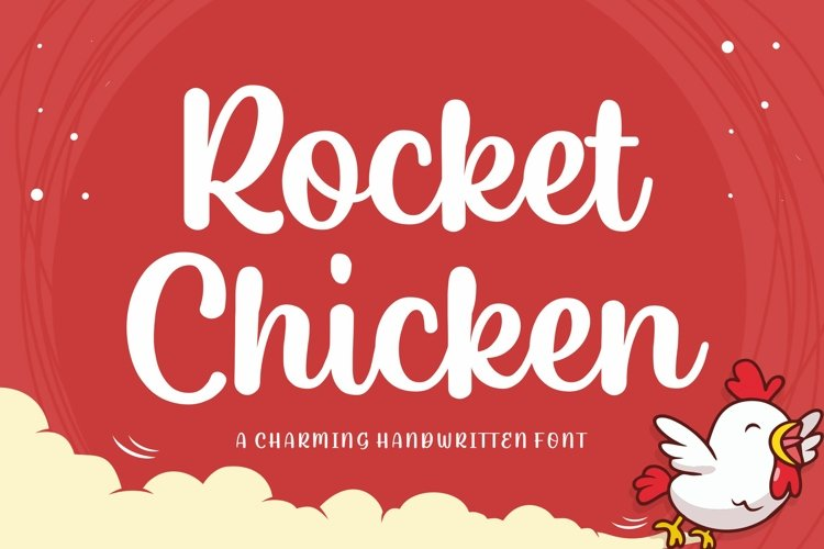 Rocket chicken Script Font example image 1