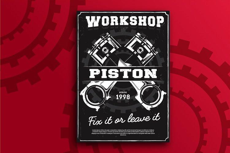 Piston Workshop Flyer example image 1