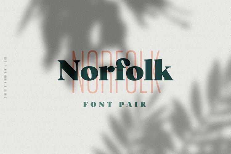 Norfolk Font Pair Bold & Narrow example image 1