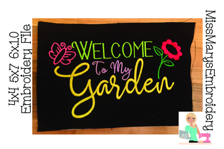 Welcome to my Garden Embroidery File example image 1
