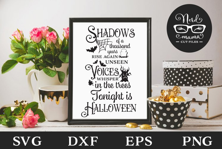 Shadows of a Thousand Years Halloween SVG Cut File