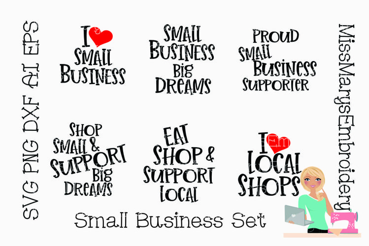 Small Business Bundle SVG | Shop Small SVG | Shopping SVG example image 1