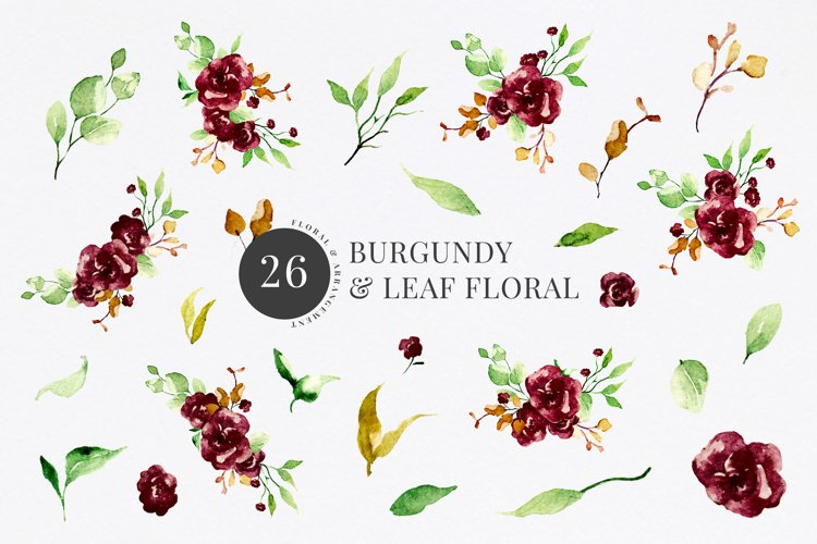 Burgundy & Leaf Floral