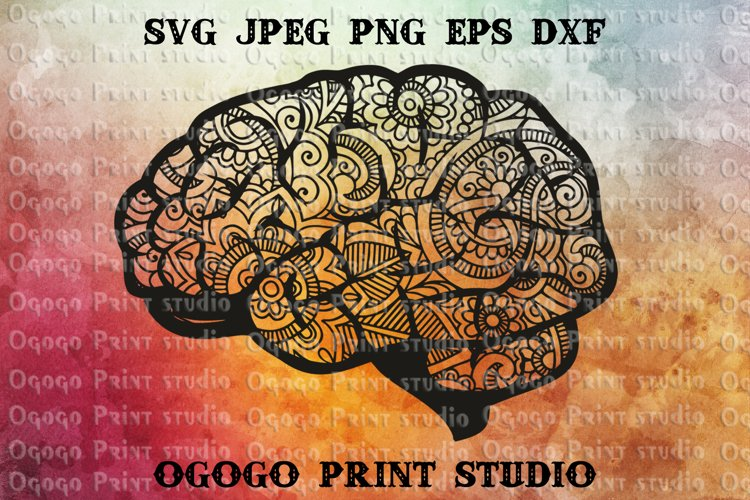 Brain Svg, Back to School SVG, Zentangle SVG, Mandala svg