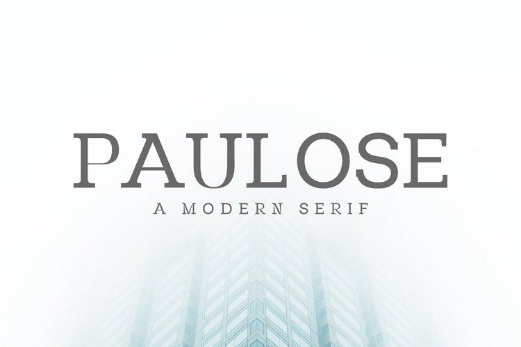 Paulose Modern Serif Font Family example image 1