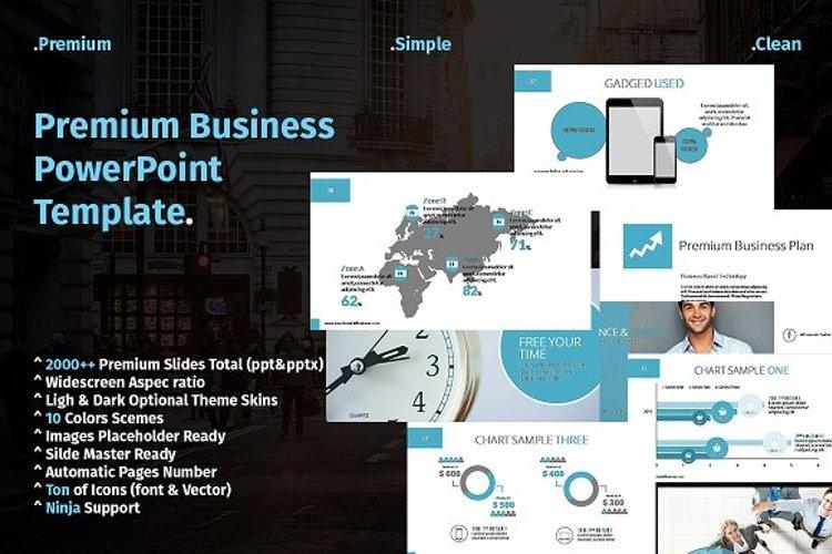 Premium Business Presentation example image 1