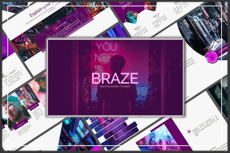 Braze Innovative Keynote Template example image 1